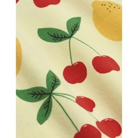 Mini Rodini Cherry Lemonade aop nb Leggings Yellow