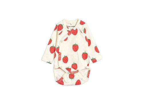 Mini Rodini Mini Rodini Strawberry aop wrap body