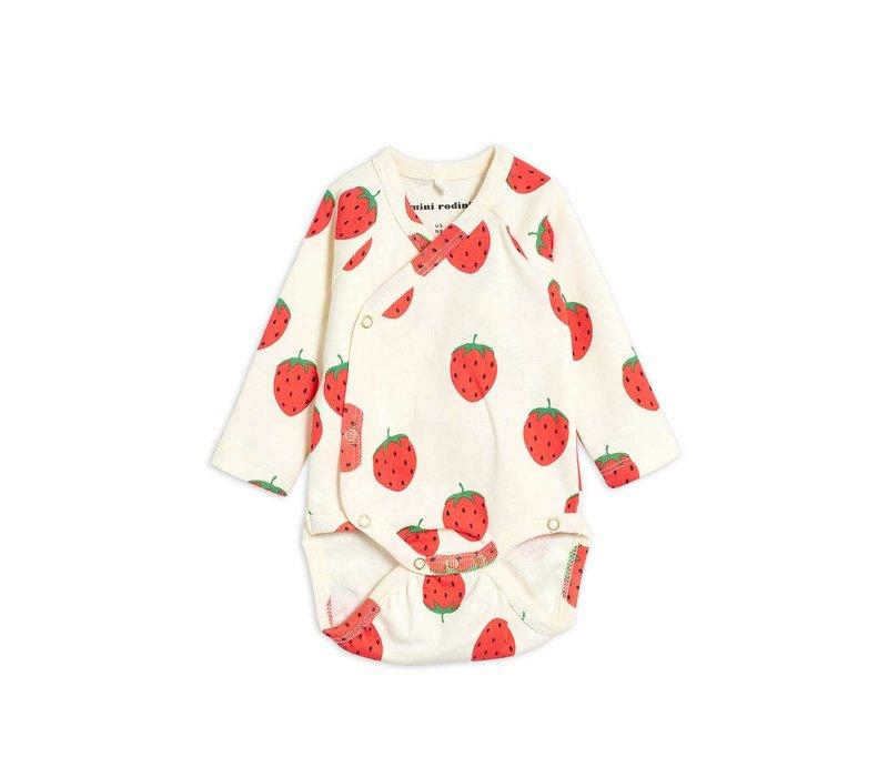 Mini Rodini Strawberry aop wrap body
