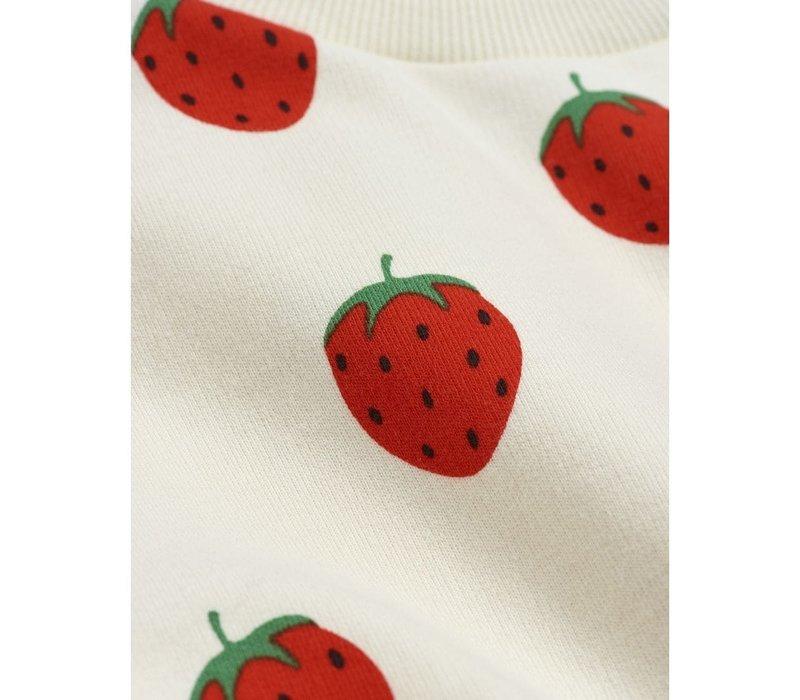 Mini Rodini Strawberry aop LS body