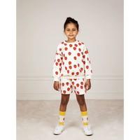 Mini Rodini Strawberry aop sweatshort Offwhite