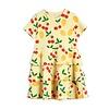 Mini Rodini Mini Rodini Cherry Lemonade aop ss Dress Yellow