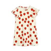 Mini Rodini Strawberry aop wing dress Offwhite