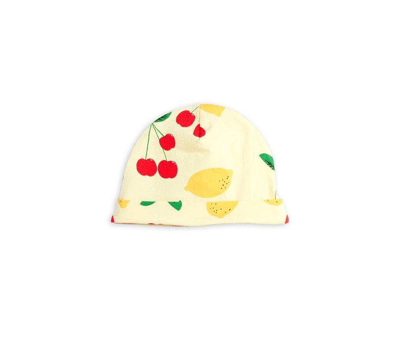 Mini Rodini Cherry Lemonade aop Beanie