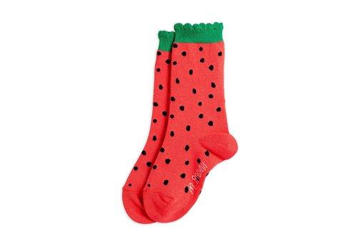 Mini Rodini Mini Rodini Strawberry scallop Socks