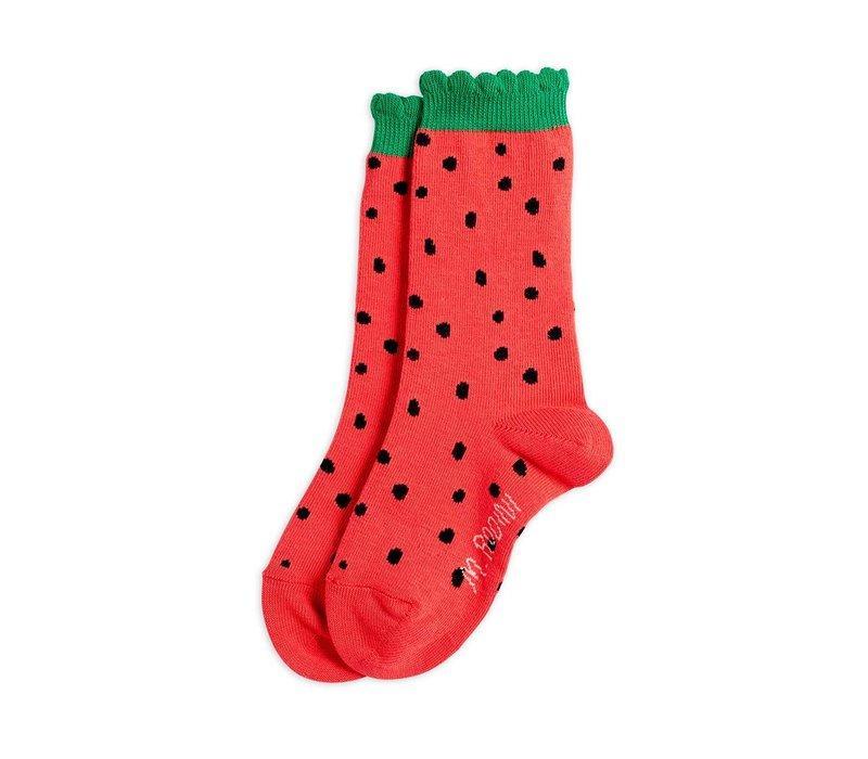 Mini Rodini Strawberry scallop Socks