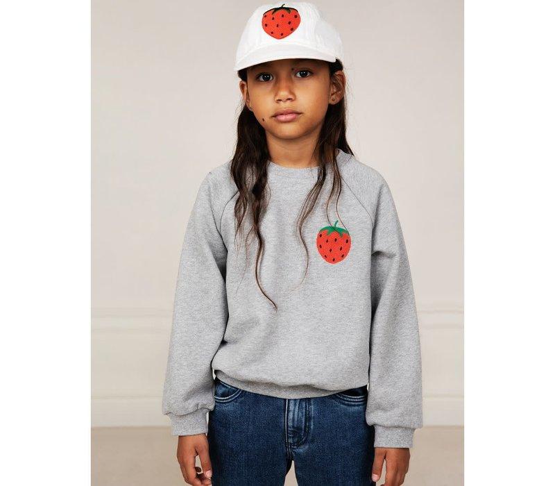 Mini Rodini Strawberry emb sweatshirt Grey Melange