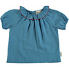 PIUPIUCHICK Piupiuchick Shirt w/ round fringe collar deep blue