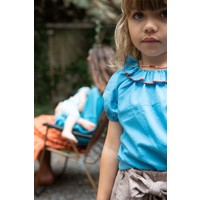 Piupiuchick Shirt w/ round fringe collar deep blue