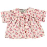 Piupiuchick Peter Pan Shirt pale pink w/ flowers