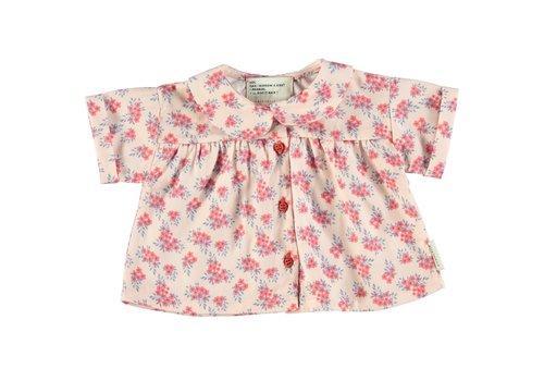 PIUPIUCHICK Piupiuchick Peter Pan Shirt pale pink w/ flowers