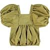 PIUPIUCHICK Piupiuchick Top w/ ballon sleeves / yellow w/ dark grey