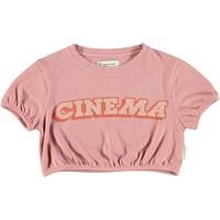Piupiuchick Girl t'shirt ballon vintage pink w/ print