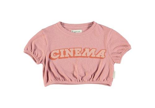 PIUPIUCHICK Piupiuchick Girl t'shirt ballon vintage pink w/ print