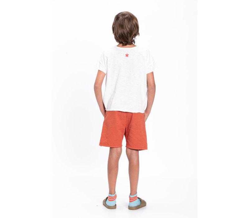 Piupiuchick T-shirt off white w/ multicolor print