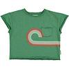 PIUPIUCHICK Piupiuchick T-shirt green  w/ multicolor print