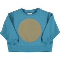 Piupiuchick Unisex sweater deep blue w/ rec print