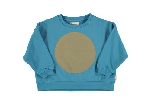 PIUPIUCHICK Piupiuchick Unisex sweater deep blue w/ rec print