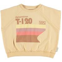 Piupiuchick Sleeveless sweater sand w/multicolor print