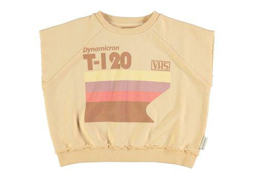 PIUPIUCHICK Piupiuchick Sleeveless sweater sand w/multicolor print