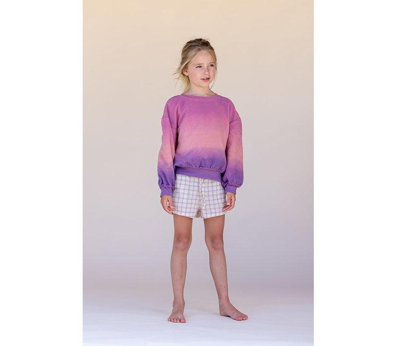 LONGLIVETHEQUEEN Shorts Purple Check