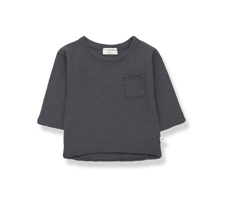 1+ in the Family Pere long sleeve t-shirt anthracite