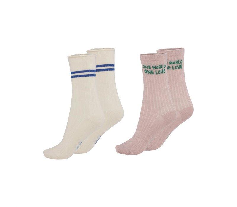 Molo Nomi Socks Petal Blush