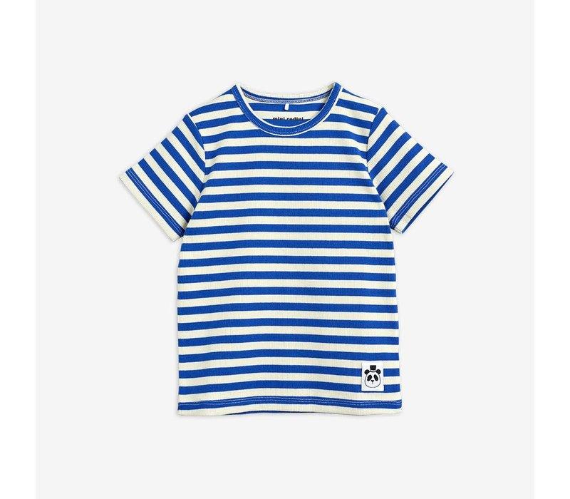 Mini Rodini Stripe  ss tee Blue