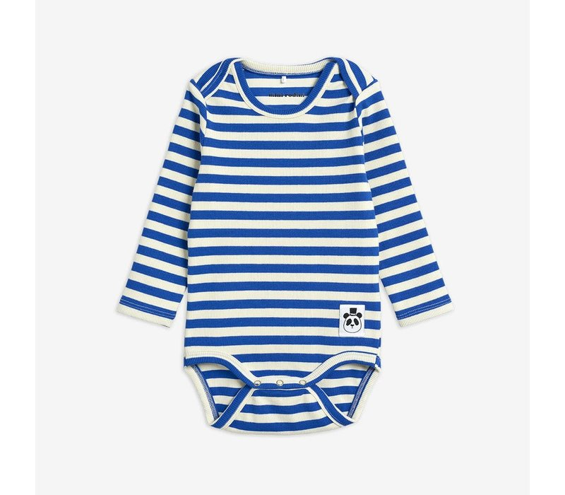 Mini Rodini Stripe LS body Blue