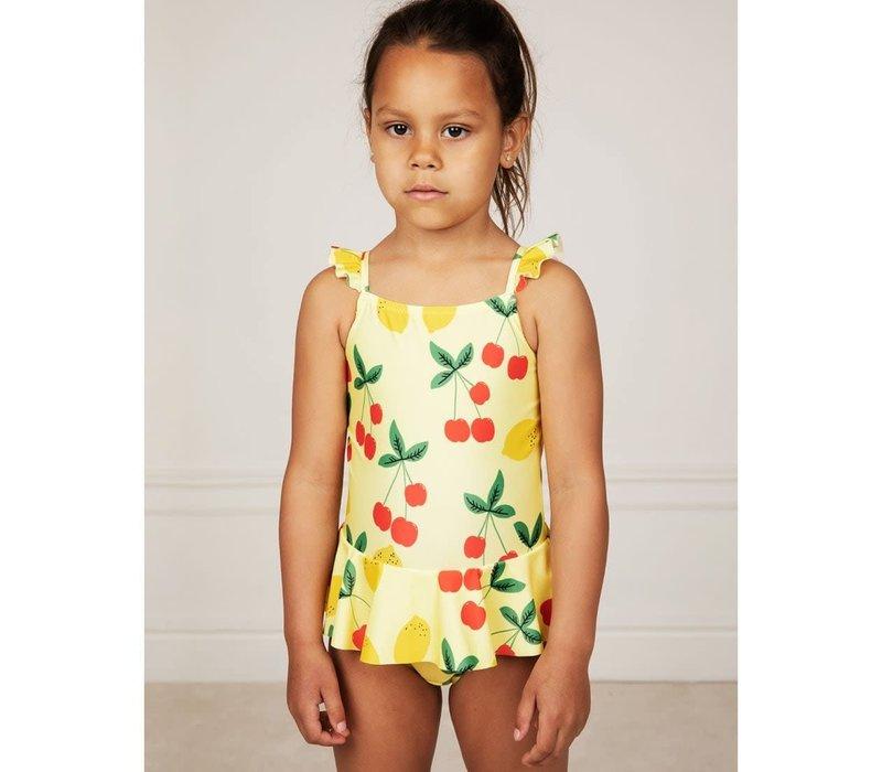 Mini Rodini Cherry Lemonade Skirt Swimsuit