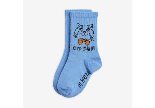 Mini Rodini Mini Rodini Cat Socks Light Blue