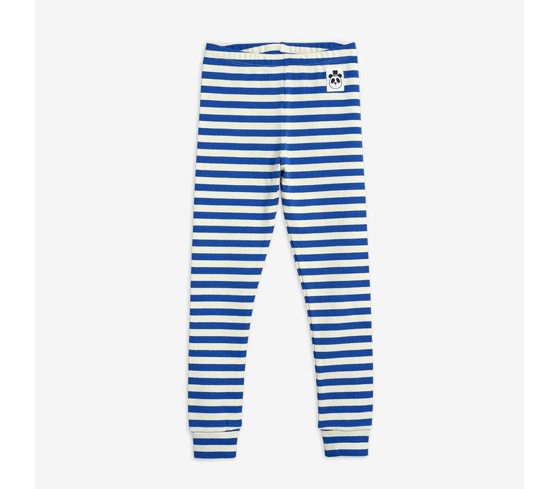 Mini Rodini Stripe Rib Leggings Blue