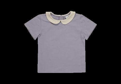 Blossom Kids Blossom Kids Peterpan shirt short sleeve Lavender Grey