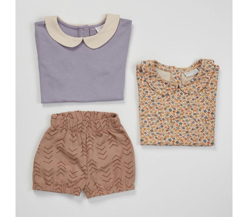 Blossom Kids Peterpan shirt short sleeve Lavender Grey