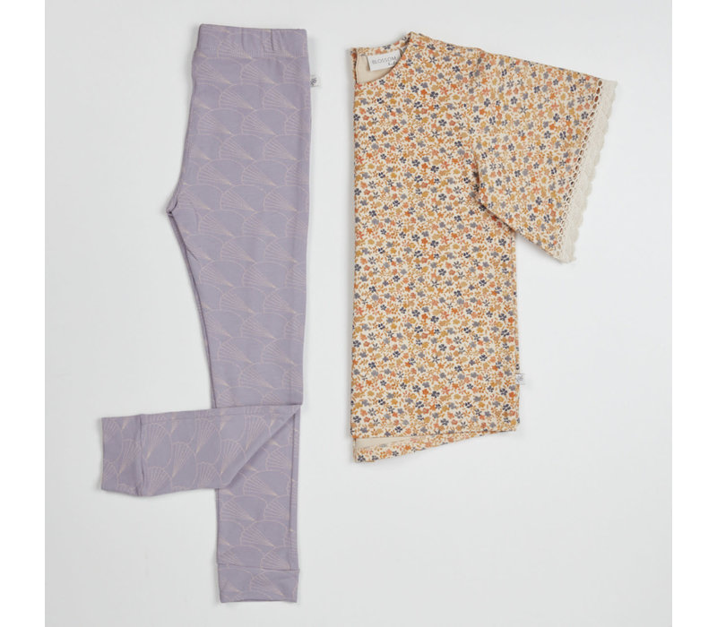 Blossom Kids Legging Shelves Lavender