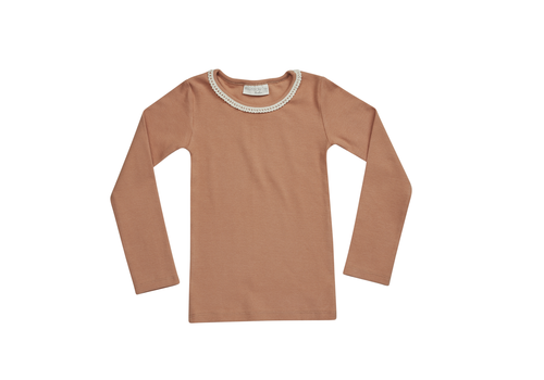 Blossom Kids Blossom Kids Long sleeve rib with Lace