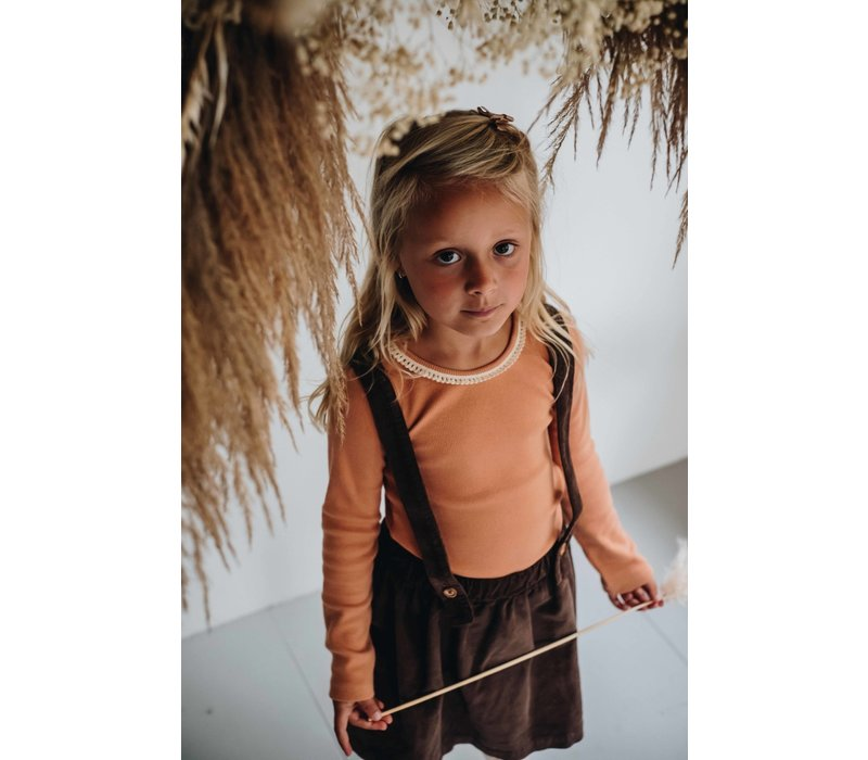 Blossom Kids Long sleeve rib with Lace