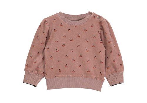 Emile et Ida Emile et Ida Cherry Dark Pink Girl Terry Cloth Sweatshirt