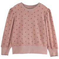 Emile et Ida Cherry Dark Pink Girl Terry Cloth Sweatshirt
