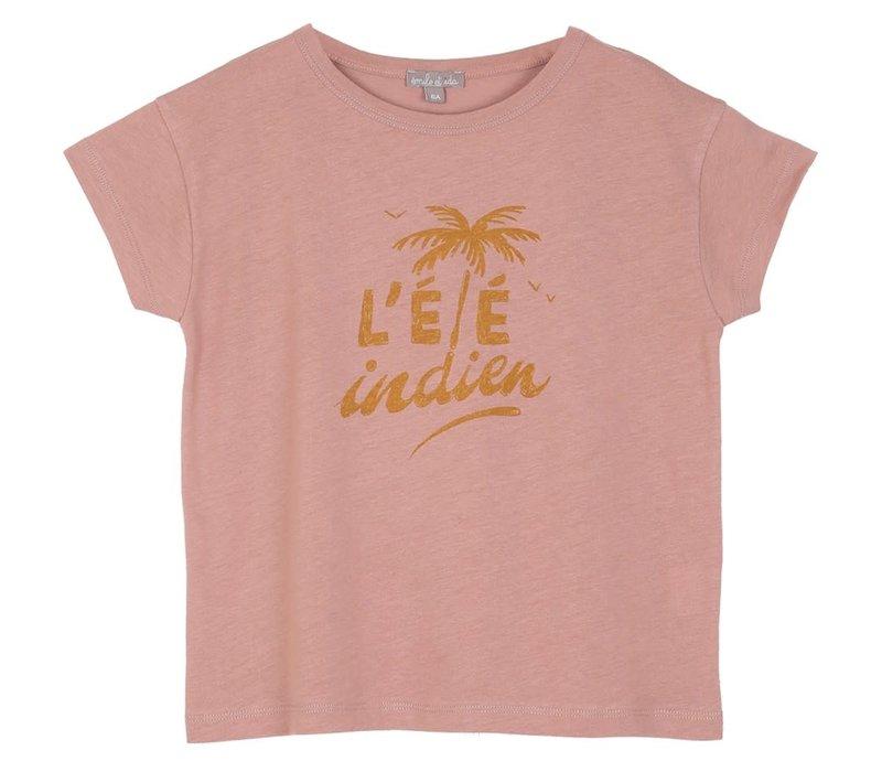 Emile et Ida Ete indien Pink Girl Tee Shirt