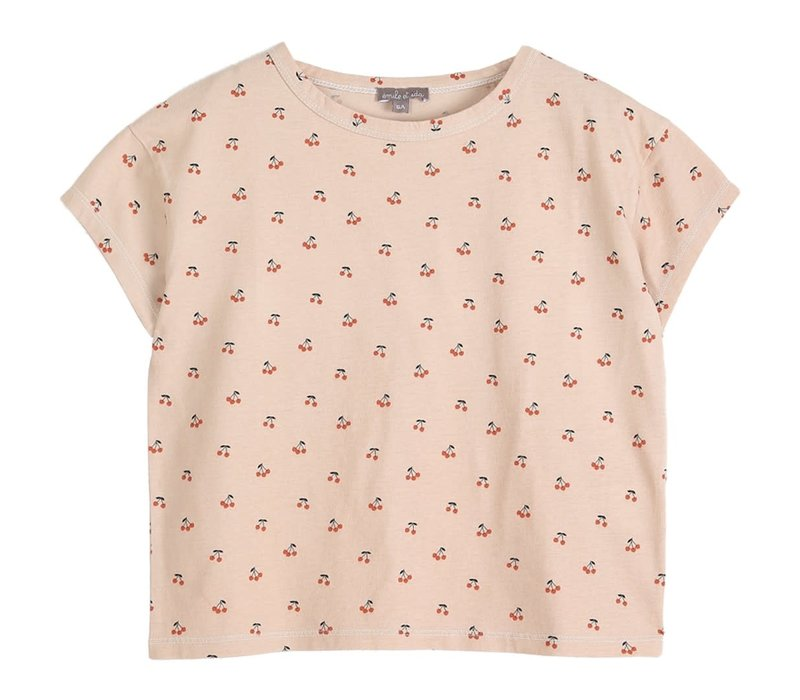 Emile et Ida Ete Cherries Girl Tee Shirt