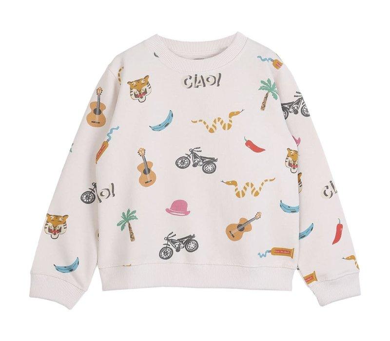 Emile et Ida Organic Ecru India Sweatshirt