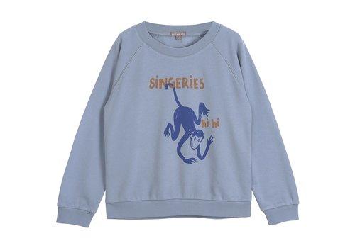 Emile et Ida Emile et Ida Singeries Blue Boy Sweatshirt