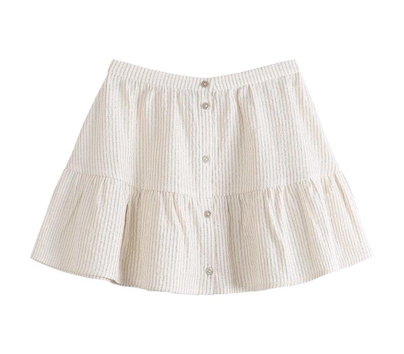 Emile et Ida Ecru Skirt Striped
