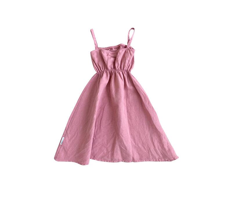 Maed for Mini Purple Peacock Dress