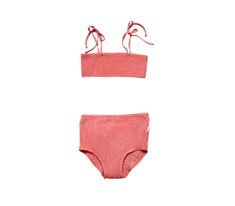 Maed for Mini Rosy Ringtail Smocked Bikini