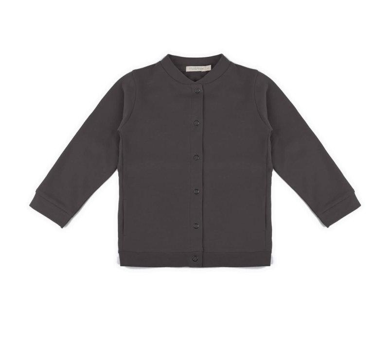 Phil&Phae Basic sweat cardigan Graphite