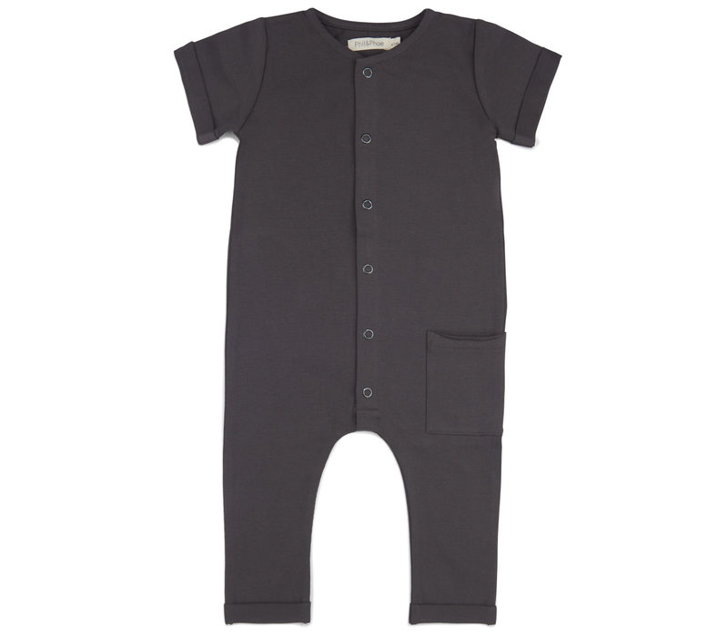 Phil&Phae Pocket jumpsuit s/s Graphite