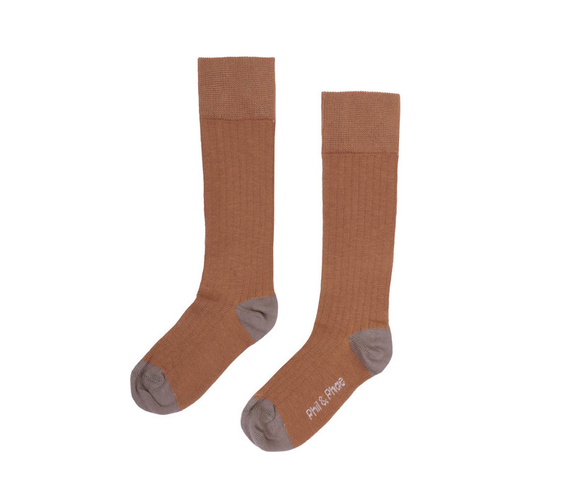Phil&Phae Ribbed knee socks hazel