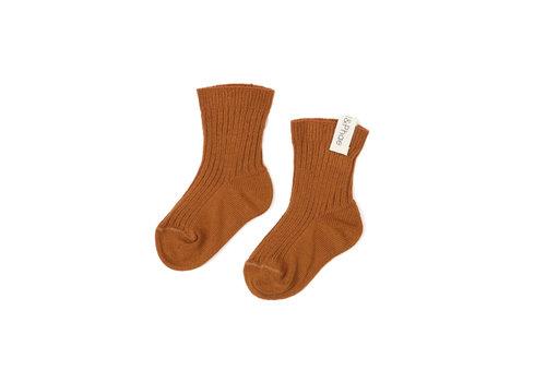 Phil&Phae Phil&Phae Ribbed baby socks hazel